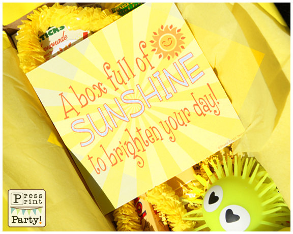 photo relating to Box of Sunshine Printable identified as Create A Sunlight Box - WiseSOVA